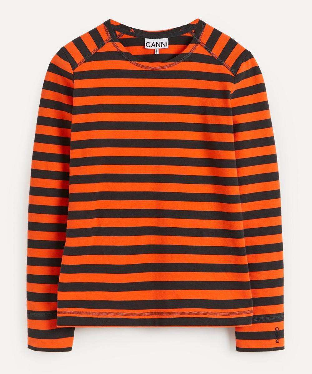 Ganni - Stripe Cotton Jersey Top