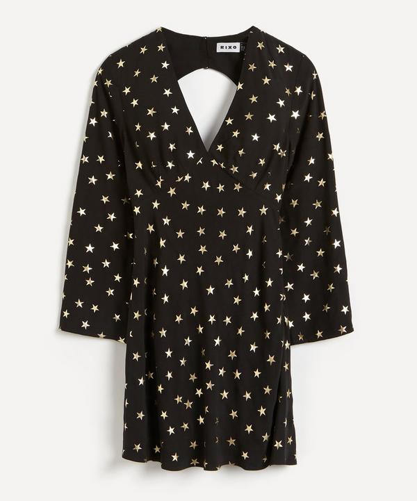 RIXO - Sophie Foil Star Silk Mini-Dress