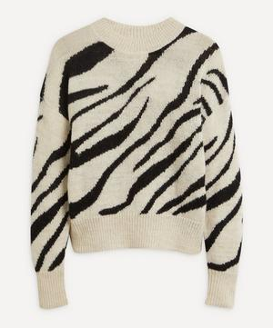 Genna Zebra-Print Alpaca-Blend Sweater