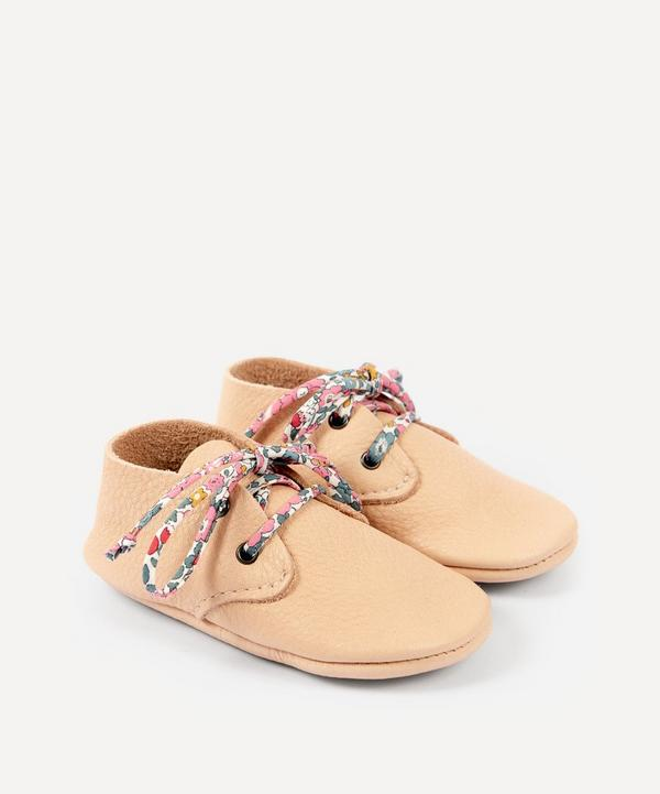 Amy & Ivor - Natural Travellers with Liberty Print Laces 3-24 Months