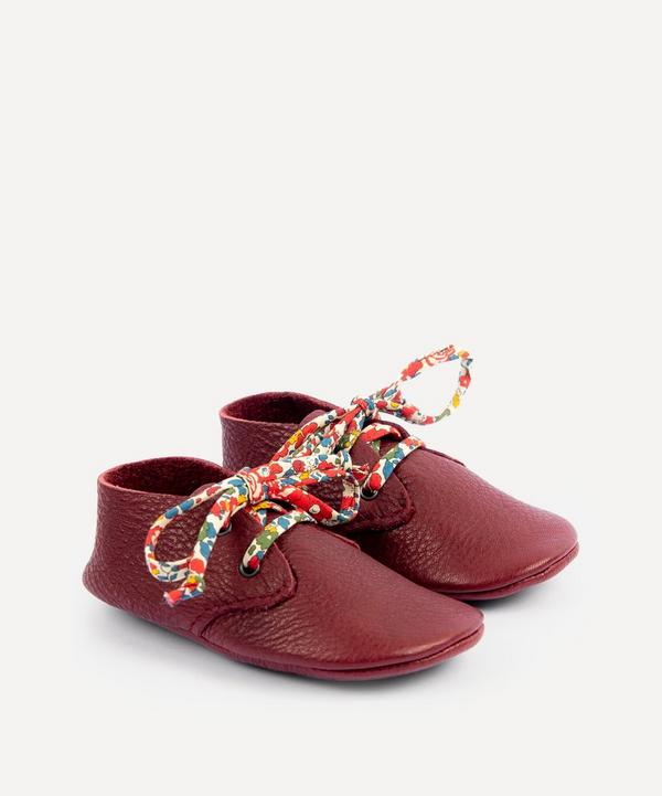 Amy & Ivor - Bordeaux Travellers with Liberty Print Laces 3-24 Months