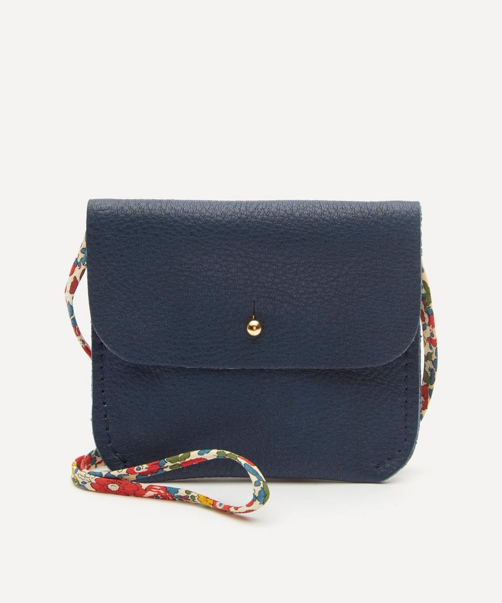 Amy & Ivor - Ink Purse with Liberty Print Strap