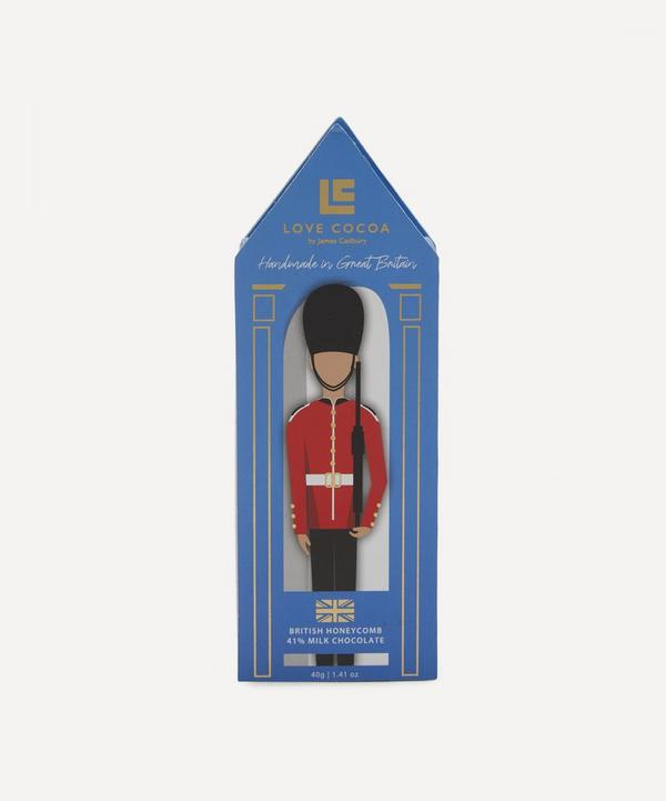 Love Cocoa - London Horse Guard Honeycomb Milk Chocolate Box 40g