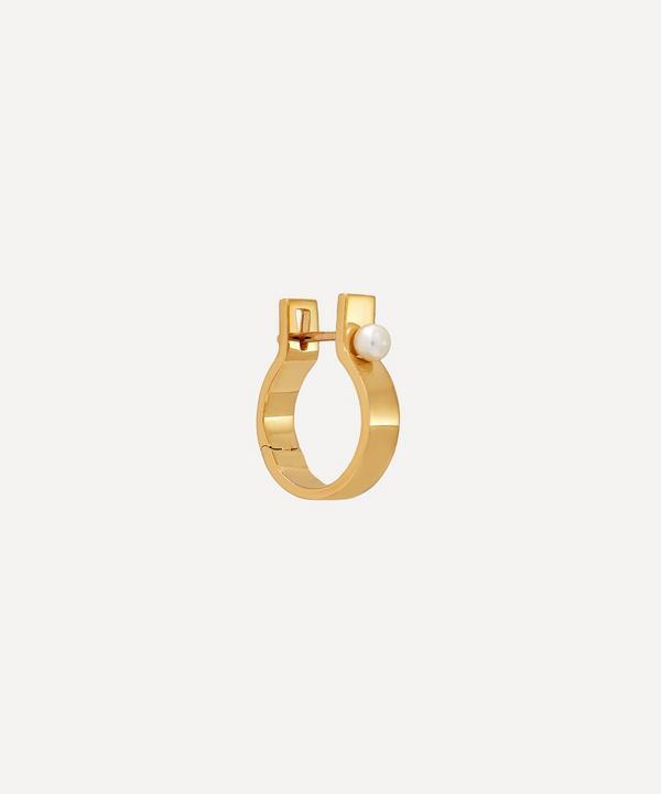 Hirotaka - 10ct Gold Indústria 5mm Pearl Hoop Earring
