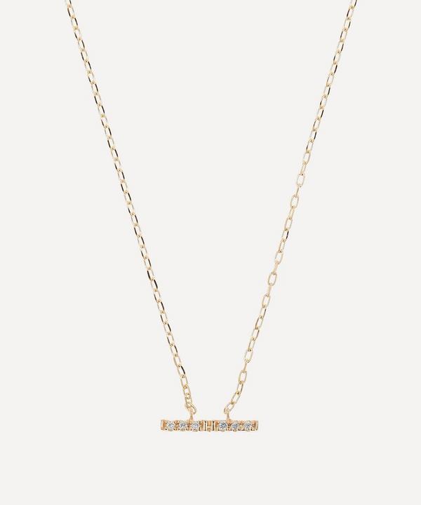 Hirotaka - 10ct Gold Trapeze Small Diamond Pendant Necklace