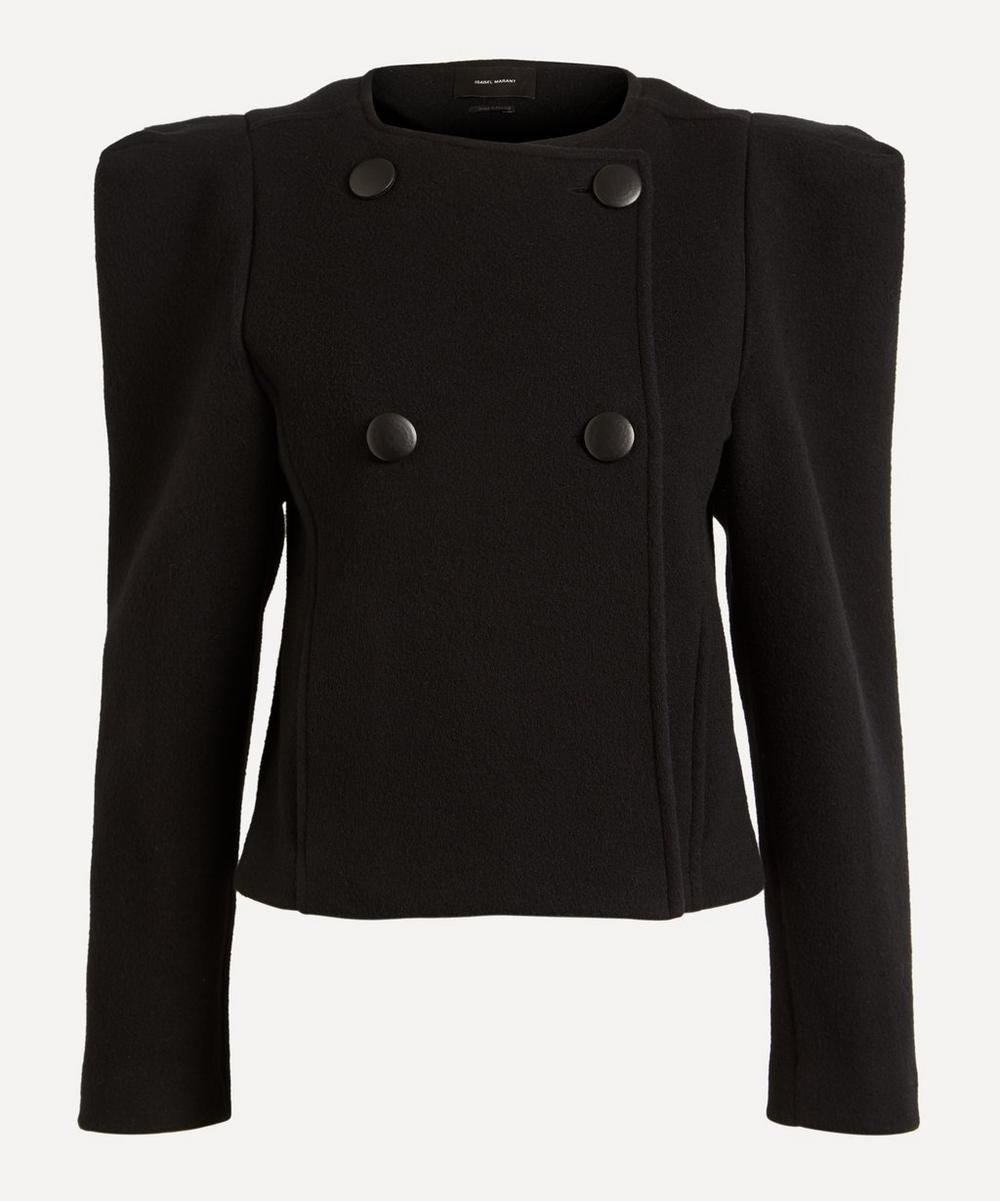 Isabel Marant EXAGGERATED SHOULDER WOOL JACKET