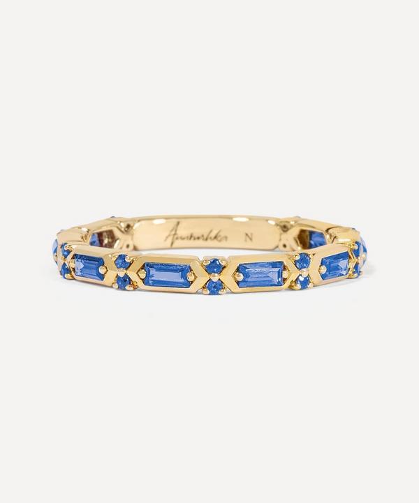 Annoushka - 18ct Gold Blue Sapphire Baguette Ring