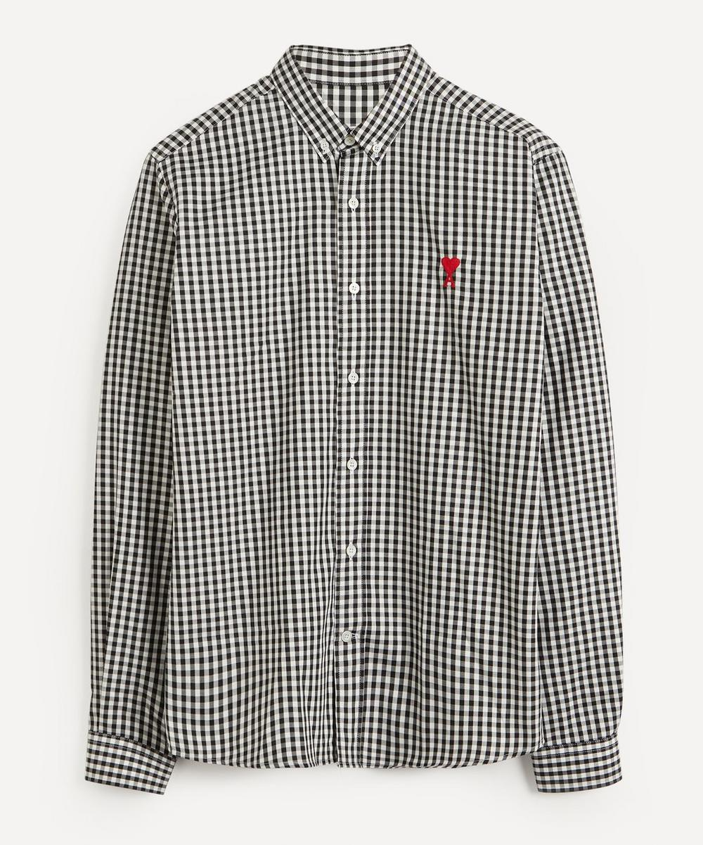 Ami - Striped Ami de Cœur Logo Shirt