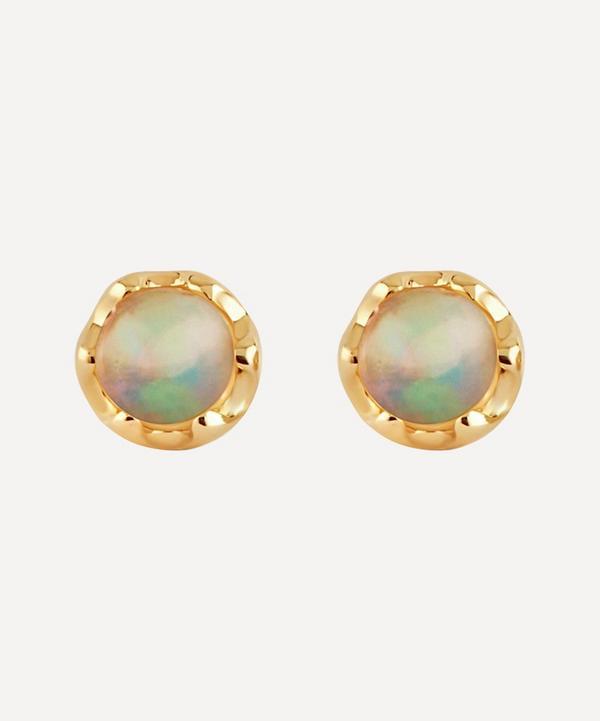 Dinny Hall - 14ct Gold Opal Stud Earrings