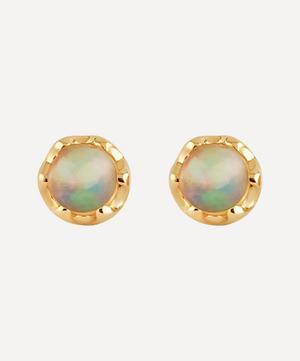 14ct Gold Opal Stud Earrings
