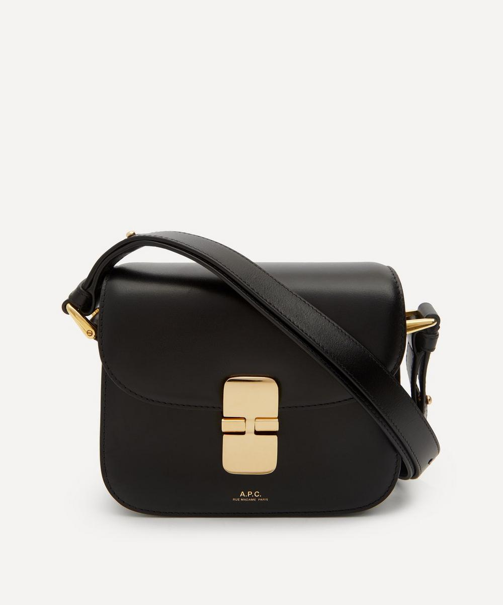 A.p.c. Grace Mini Leather Cross-body Bag In Black