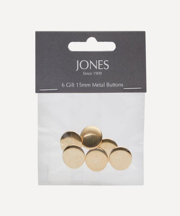 Jones Buttons - Metal 15mm Blazer Cuff Buttons – Pack of 6