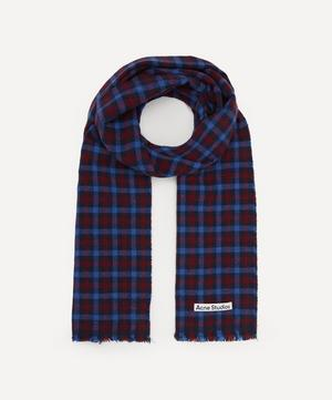 Multi Check Wool-Blend Scarf