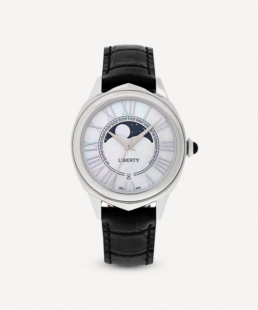 Liberty - Lasenby Moonphase Mother-Of-Pearl Leather Strap Watch