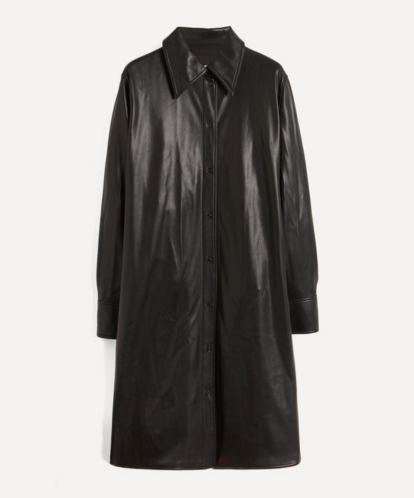 STAND STUDIO - Remi Faux-Leather Shirt-Dress