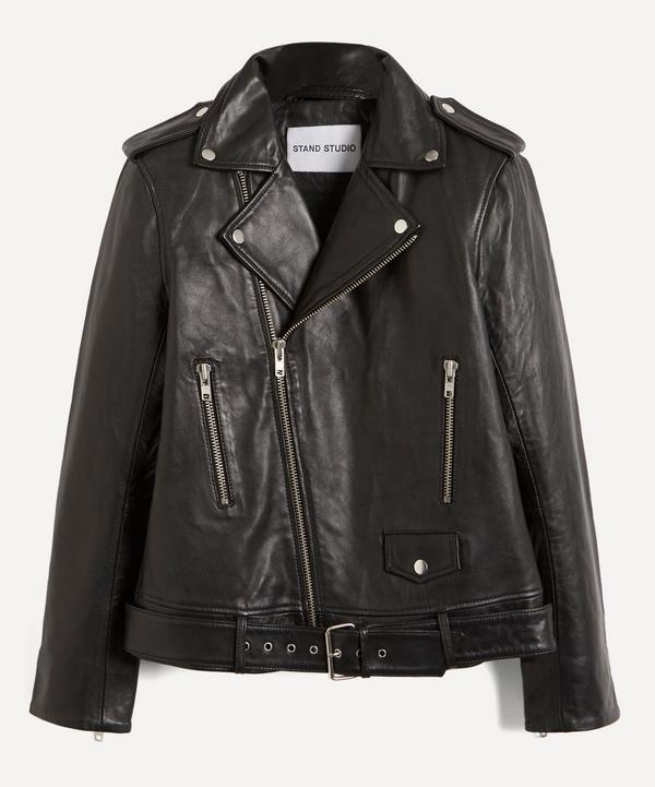 STAND STUDIO - Nina Lamb Leather Biker Jacket