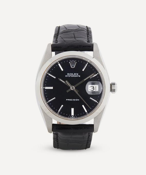 Designer Vintage - 1960s Rolex Oysterdate Precision White Metal Watch