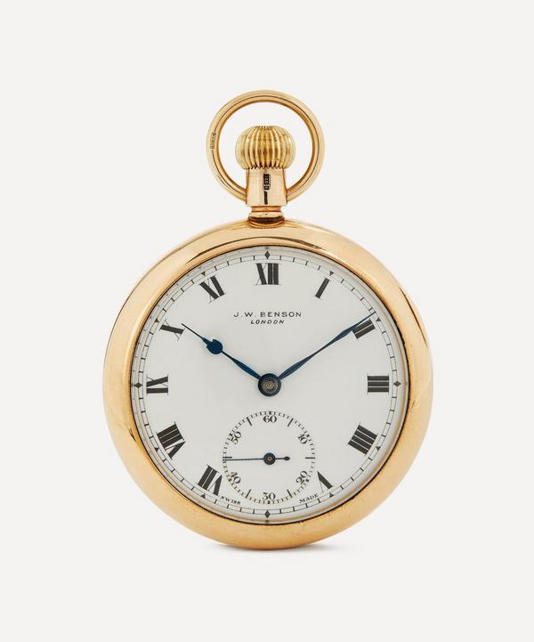 Designer Vintage - 1930s J. W. Benson 9ct. Gold Pocket Watch