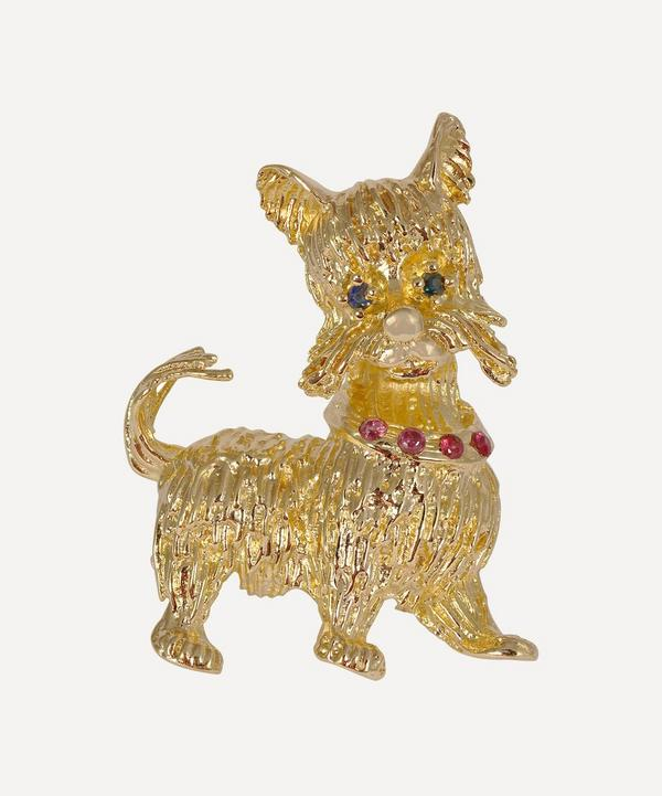 Kojis - 18ct Gold Ruby and Sapphire Dog Brooch