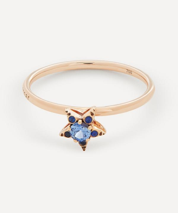Selim Mouzannar - 18ct Rose Gold Istanbul Small Blue Sapphire Star Ring
