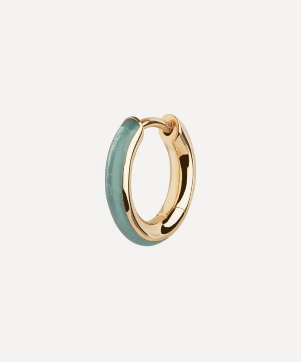 Maria Black - Gold-Plated Kate Ocean Enamel Single Huggie Hoop Earring