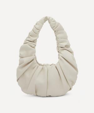Anja Baguette Ruched Vegan Leather Shoulder Bag