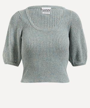 Scoop Neck Melange Knit