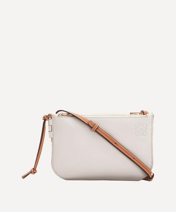 Loewe - Gate Calfskin Leather Double Zip Pouch