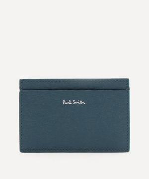 Colour-Block Straw-Textured Card Holder