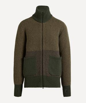 Zip-Through Knit Cardigan