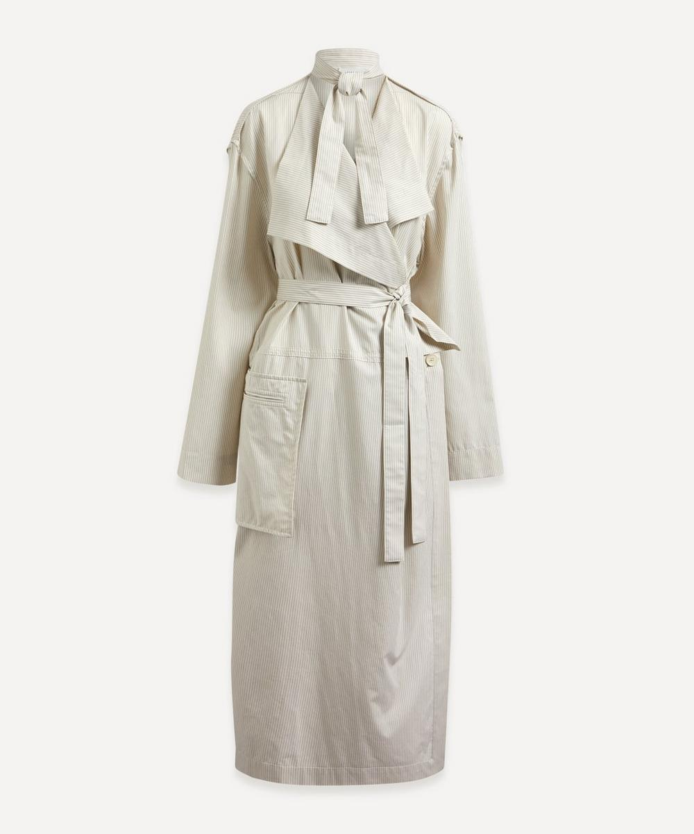 Lemaire DRAPED COTTON-POPLIN TRENCH DRESS