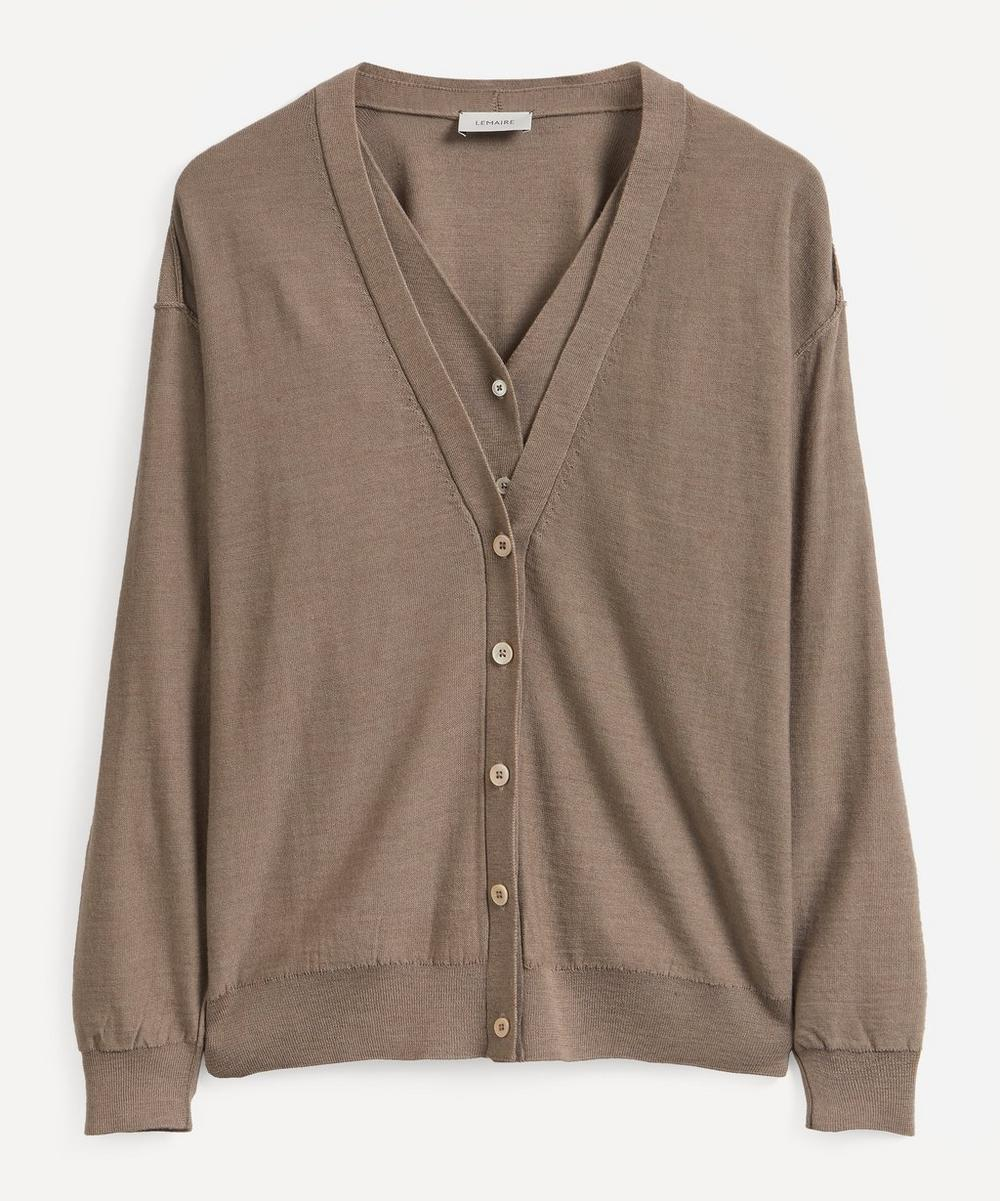 Lemaire Knits KNITTED LOOSE CARDIGAN