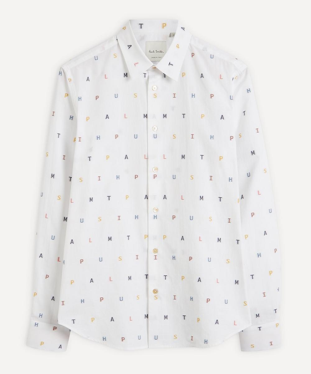 Paul Smith - Logo Lettering Cotton Shirt