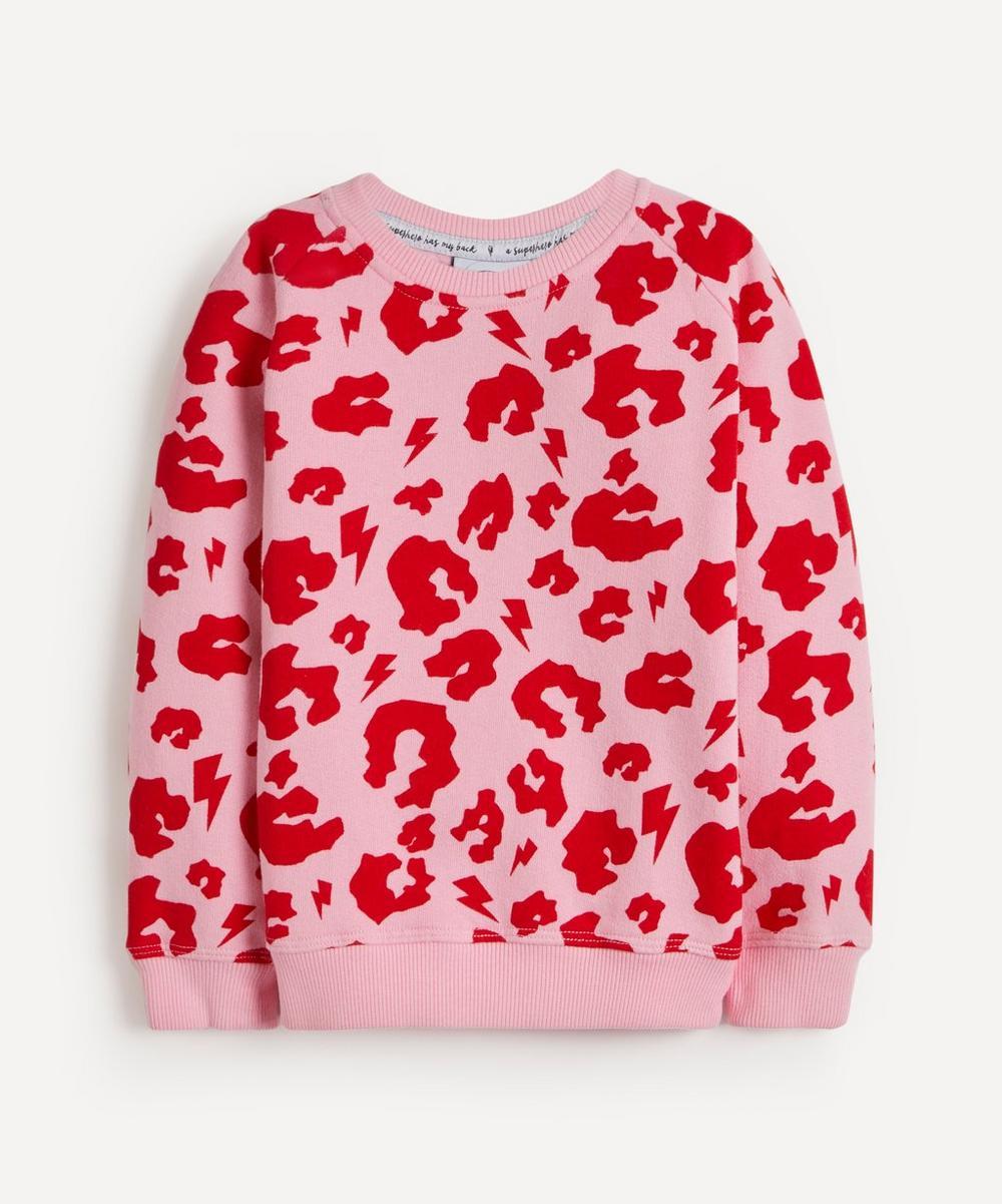 Scamp & Dude - Leopard Print Lightning Bolt Sweatshirt 1-8 Years