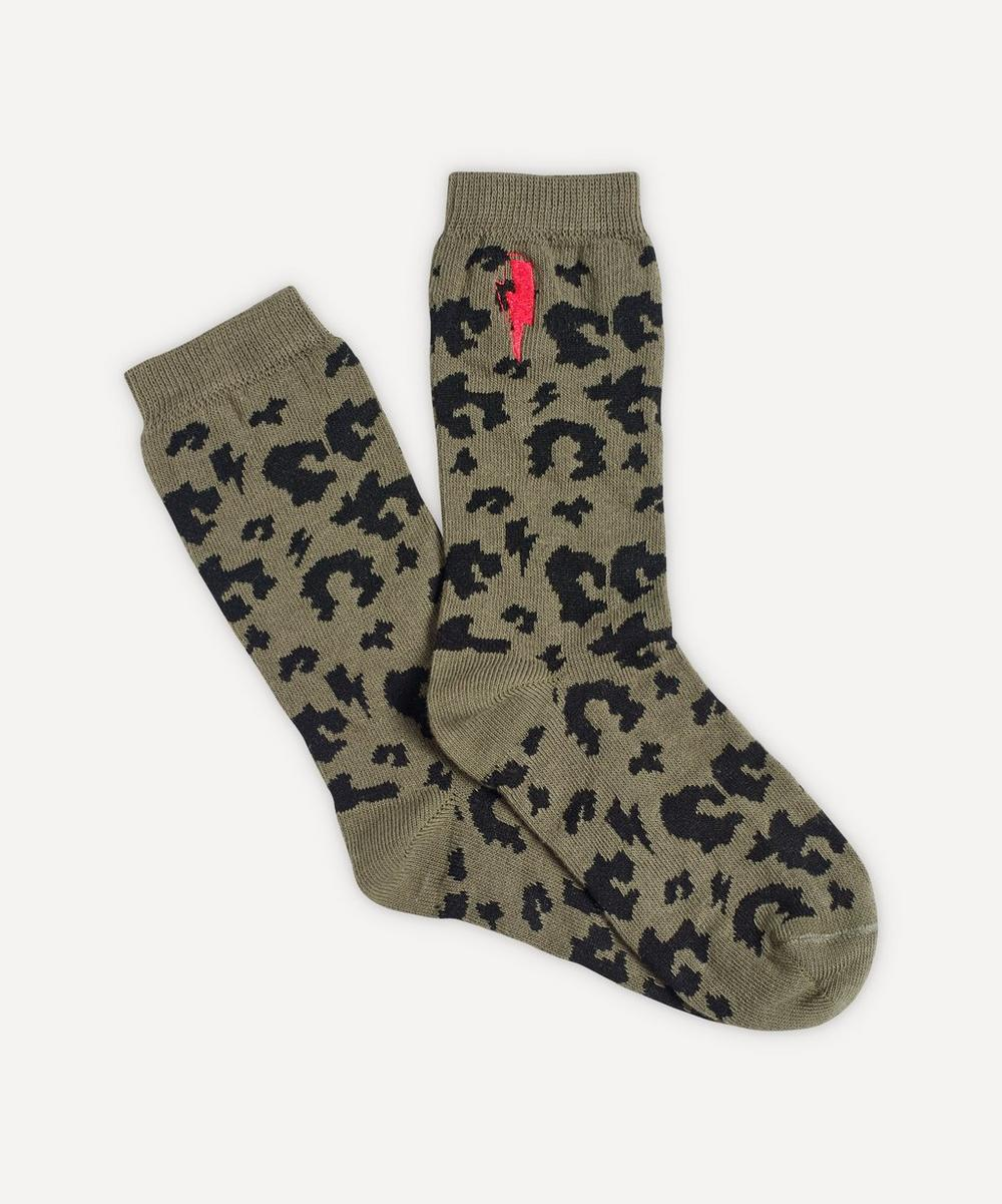 Scamp & Dude - Leopard and Lightning Print Supercharged Socks 2-8 Years
