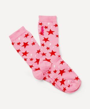 Star and Lightning Print Socks