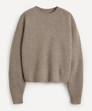 Ribbed Crew-Neck Cashmere Sweater