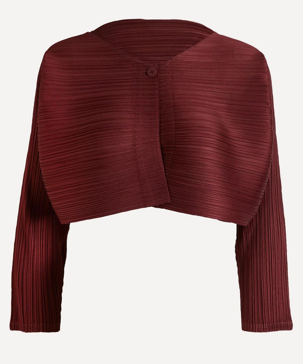 Pleats Please Issey Miyake - Pleated Bolero Jacket