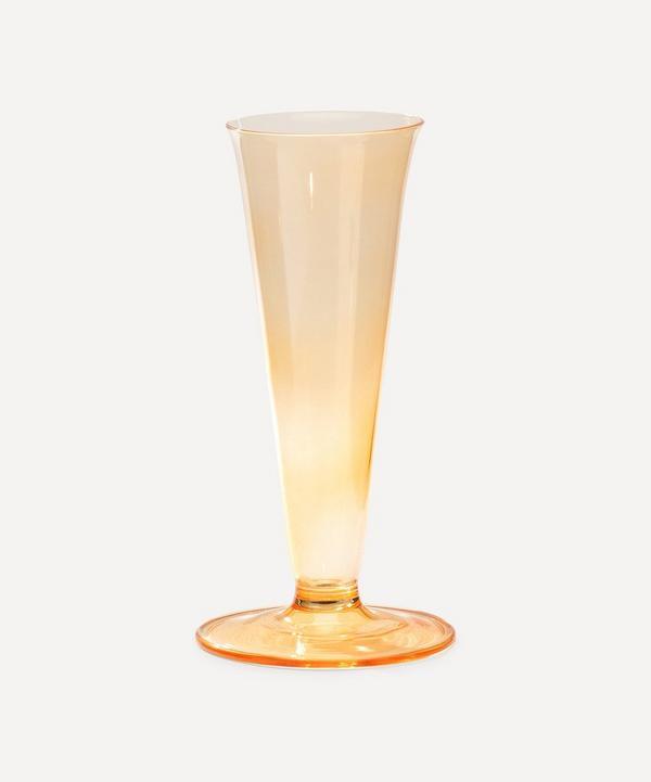 Anna + Nina - Glass Vase Sunset Orange