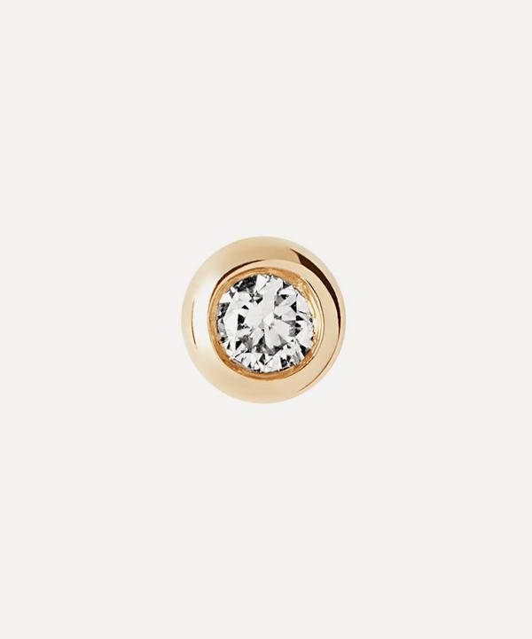 Maria Black - 14ct Gold Big Dot Diamond Single Stud Earring