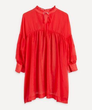 Silk-Cotton Mini-Dress