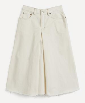 Wide-Leg Denim Culottes