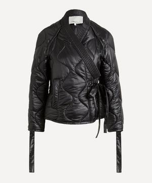 Padded Nylon Utility Kimono Jacket