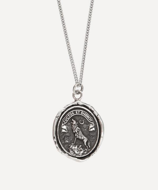 Pyrrha - Sterling Silver Struggle and Emerge Necklace