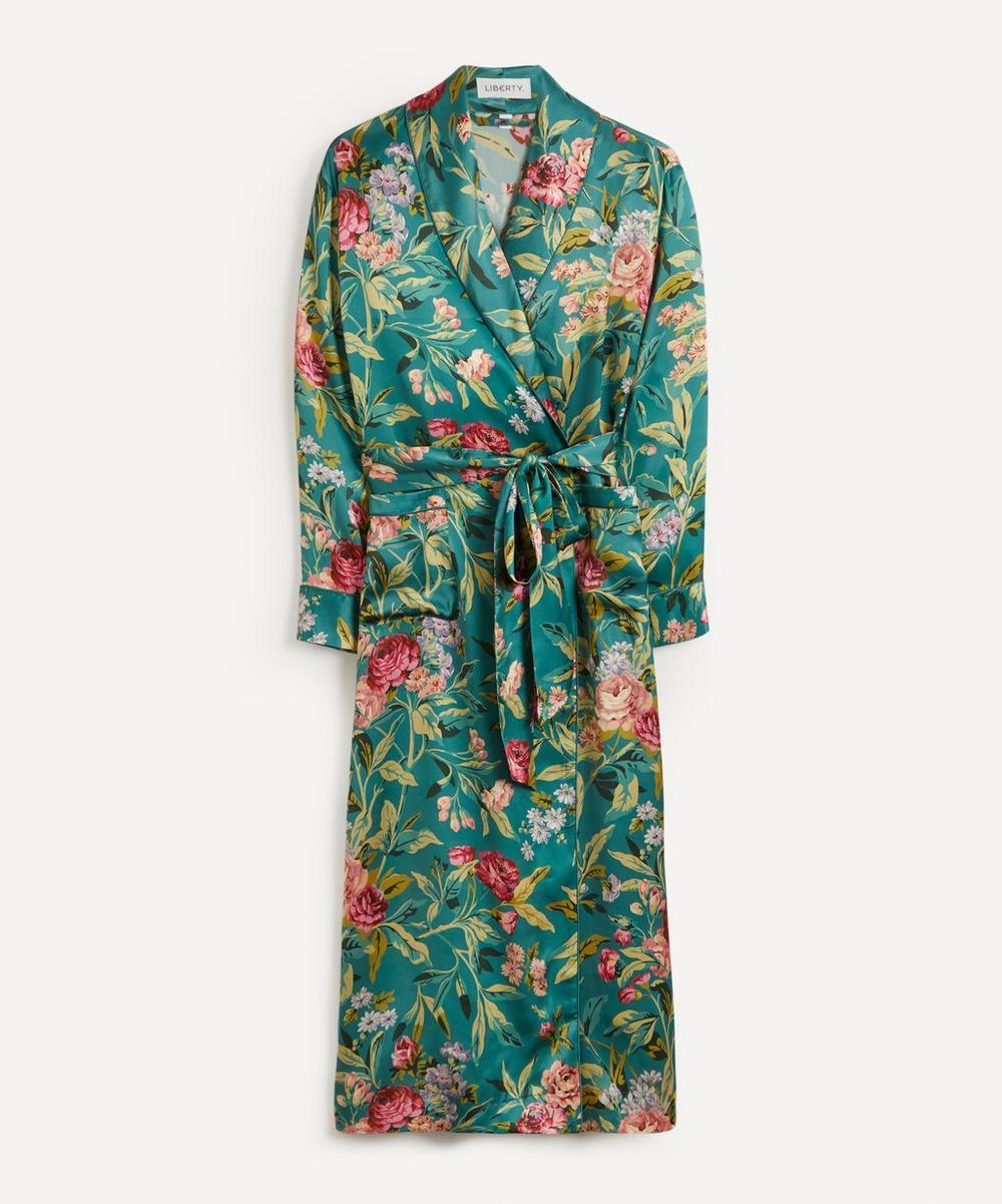 Liberty - Desert Rose Silk Satin Long Robe