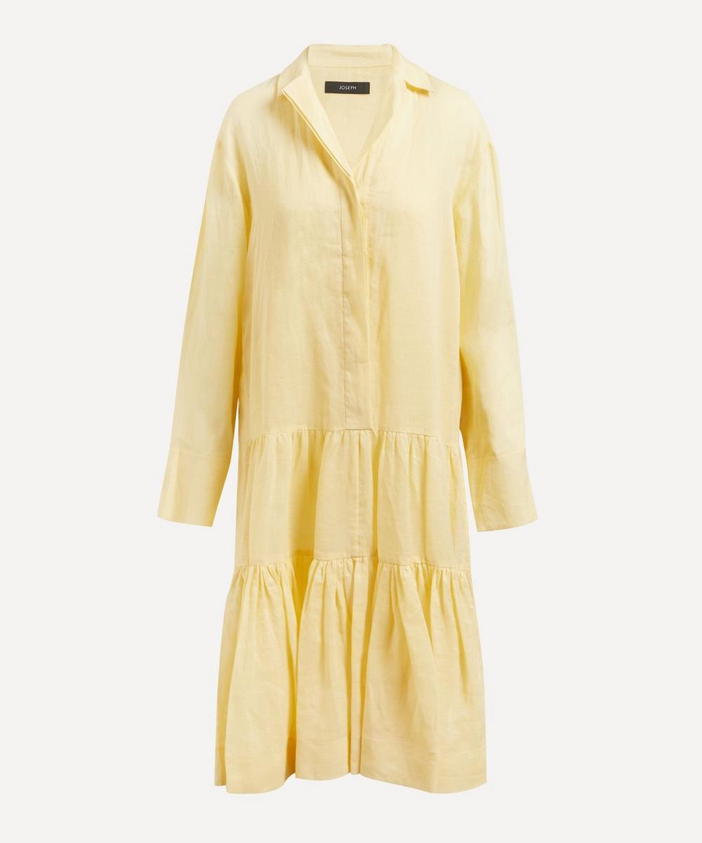 Joseph Linens DAN TIERED RAMIE-VOILE DRESS