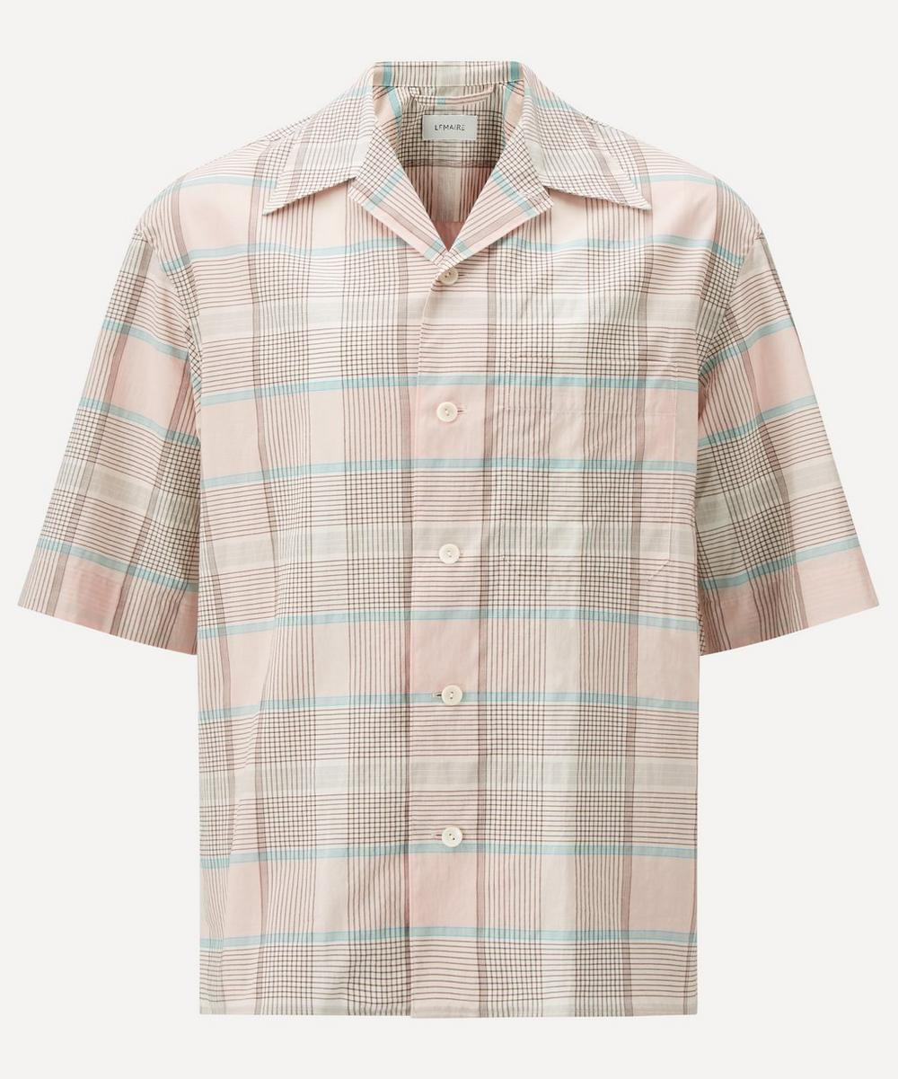 Lemaire Cottons CHECK SHORT-SLEEVE SHIRT