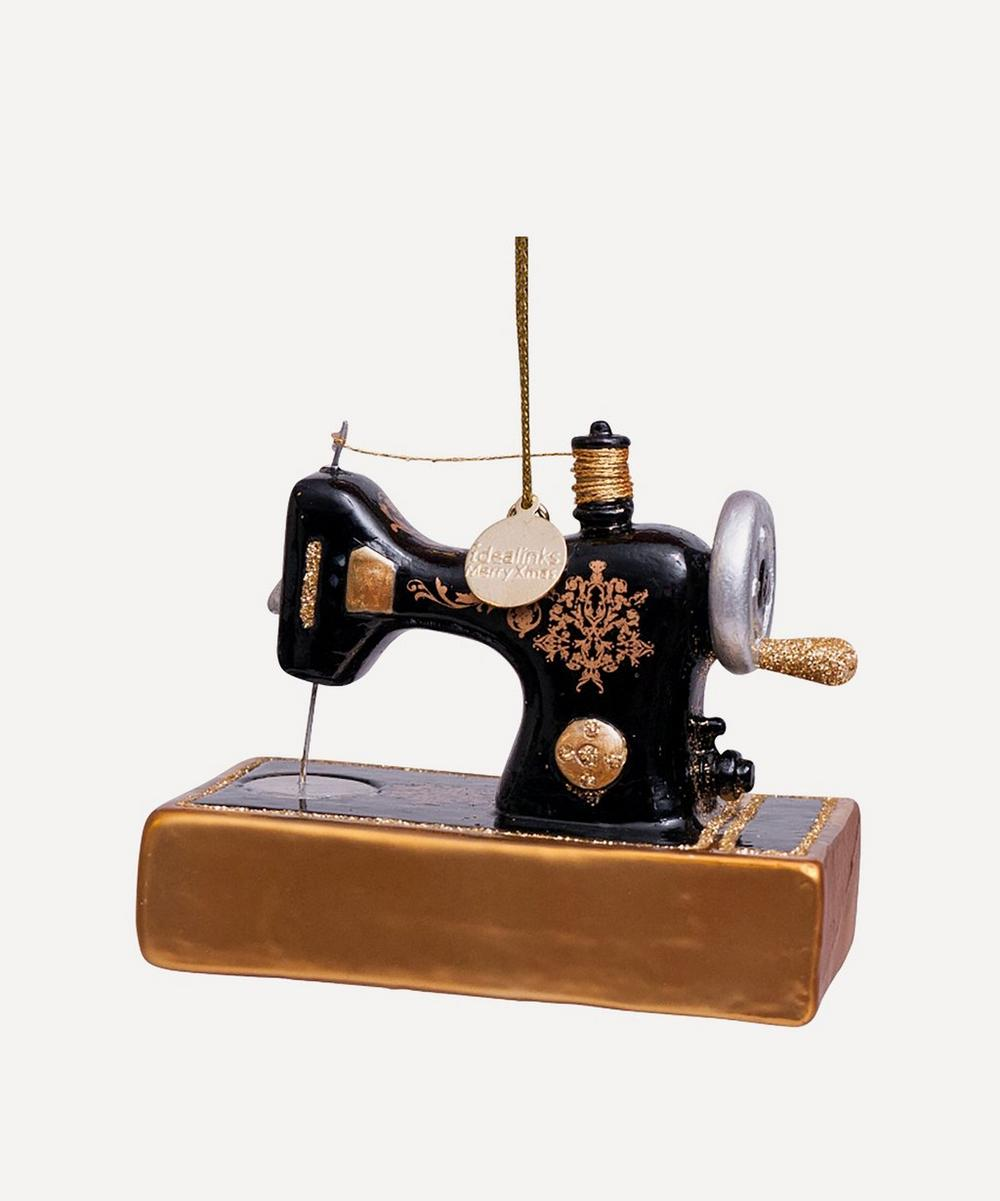 Unspecified - Vintage Sewing Machine Glass Tree Ornament