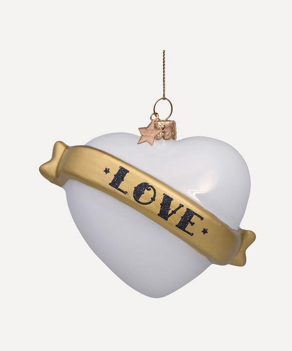 Unspecified - Love Heart Glass Tree Ornament