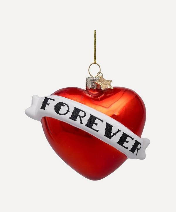 Unspecified - Forever Heart Glass Tree Ornament